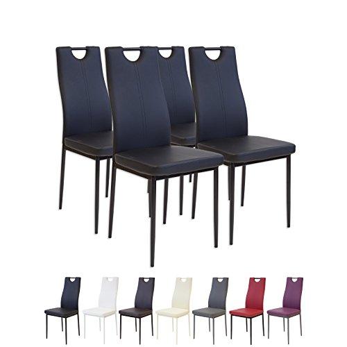 Albatros 2907 SALERNO Set de 4 sillas de comedor, negro