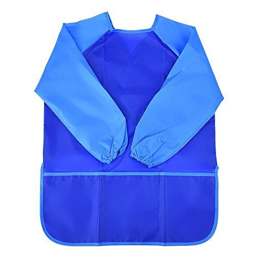 Langarm Malschürze Wasserdichte Malerei Schürze (Blau) (Große Kunst-kittel)