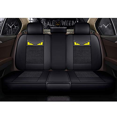 Copri Protezione Sedile Auto Universali Set, Accessori Auto Interno Tuning, Ventilazione Traspirante (Color : Black, Size : B)