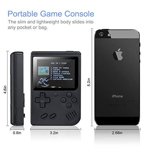 weikin Consoles De Jeux Portable Retro FC avec 1 Joystick PCS Games Console avec 3 Pouces 3 inch LCD Écran 168 Jeux Classiques pour Deux Joueur pour Les Enfants et Les Amis
