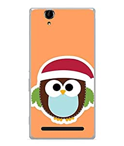 PrintVisa Designer Back Case Cover for Sony Xperia T2 Ultra (small dotted multi colored owl )