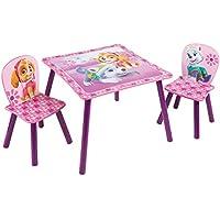 Preisvergleich für Paw Patrol - Set aus Tisch und 2 Stühlen für Kinder