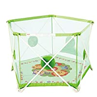 Playpen Baby Foldable, Kids Portable Playard Activity Centre Safety Play Yard Baby Fence Play Area Baby Gate Home Indoor Outdoor New Pen