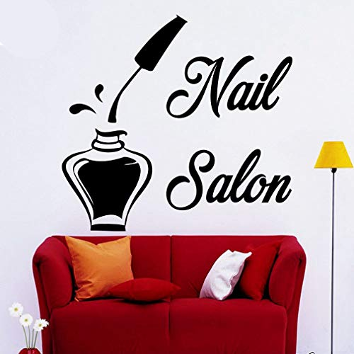 wandaufkleber 3d Wandaufkleber Schlafzimmer Barber Salon Glass Door Stickers Decorative Shop Windows And Scissors Welcome for nail salon