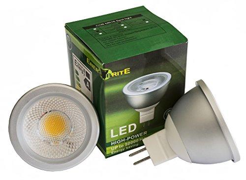 EnergyBrite - Faretto a LED COB, 12 V, MR 16, 7 W, 3000 K bianco caldo
