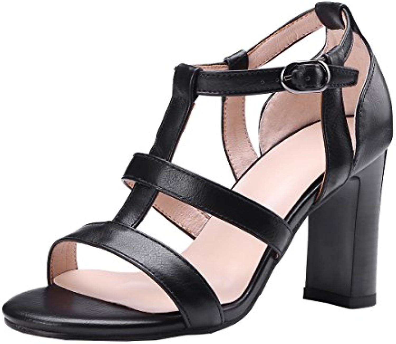 AIYOUMEI Zapatos de Vestir de Otra Piel Mujer -