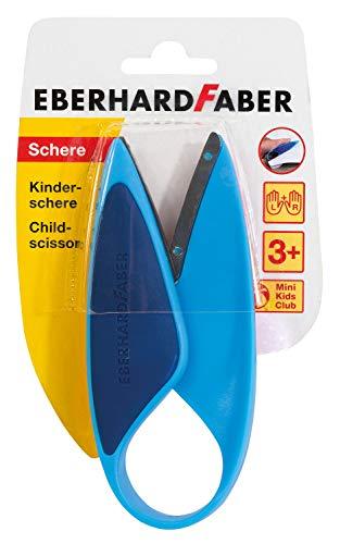 Eberhard Faber 579951 Kinderschere für Linkshänder und Rechtshänder, optimal zum Schneiden und Basteln mit Kleinkindern, blau
