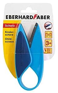 Eberhard Faber 579951 - Tijeras Infantiles para Zurdos y diestros, Color Azul