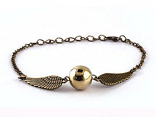 Harry-Potter-Armband-Armbnder-Armschmuck-Handschmuck-Flgeln-Glocken-Glckchen-antik-bronze-fanartikel-Heiligertrmer-des-Todes-Neuheit