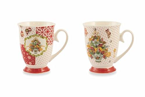 Villa d 'Este Home Tivoli Canada Juego Taza, Porcelana, Multicolor, 9cm, 2Unidad