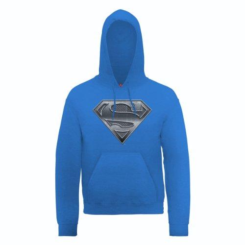 DC Universe Herren Kapuzenpullover Dc0000456 Dc Comics Official Superman Steel Plate Logo Blau - Königsblau