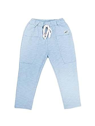 Oceankids Verde Pantaloni Sportivi in Cotone da Bambino con Cintura Elastica Jogger di Tuta Comodi, da Jogging per Ragazzi 2 Anni