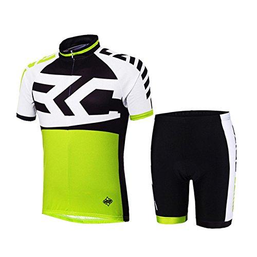 Netspower® 2016 Estate Uomo Abbigliamento Ciclismo manica corta Sportivo Maglia Bicicletta con Pantaloni Traspirante Protezione (Assorbente Intima Di Protezione)