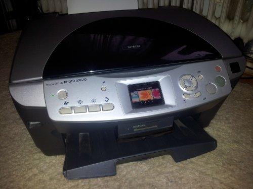 Epson Stylus Photo RX620 (Multifuntionsdrucker 3 in 1, Drucker, Scanner, Kopierer, USB, Speicherkarten, DIA & Fotostreifen Scannen) -