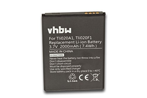 vhbw Li-Ion Akku 2000mAh (3.8V) für Handy Smartphone Telefon Alcatel One Touch Pop Icon wie Tli020F1, TLi020G1, TLi019B2. (Pop Onetouch Handy Alcatel Icon)