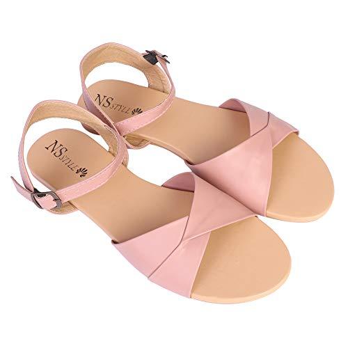 NS Style Women's Flat Sandal Pink