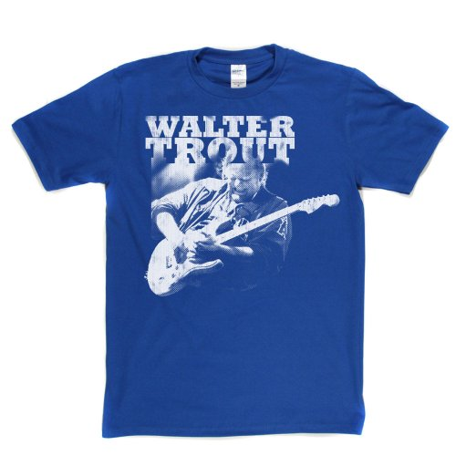 Walter Trout American Blues Guitarist Canned Heat T-shirt Königsblau