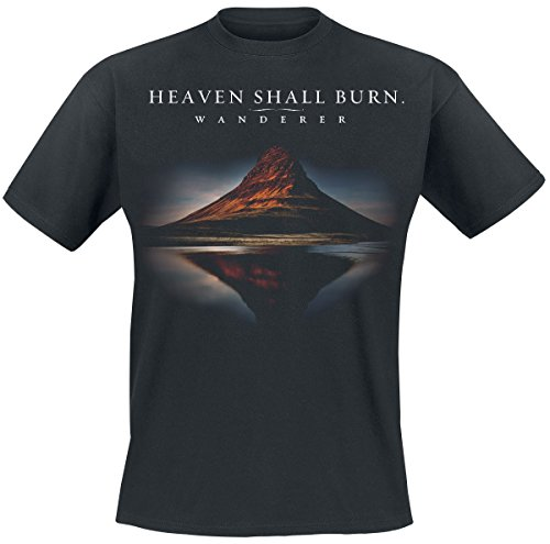 Heaven Shall Burn Wanderer Cover T-Shirt Schwarz S (Burn-jungen-t-shirt)