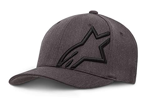 Alpinestars Corp Shift 2 Flexfit - Unisex Baseball Cap, Kappe für Herren und Damen, Sportkappe rundum geschlossen - Grau