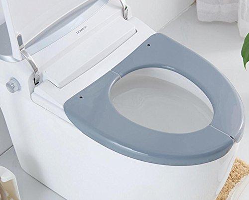 Zy home zy ispessimento del cuscino di toletta di plastica fuori impermeabile di noleggio wc sedile cuscino turismo generale seduta wc sedile pieghevole-taobao-grigio