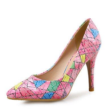 LFNLYX Damen Fersen Andere Club Schuhe Leder Hochzeitsfest & Abendkleid Stiletto Ferse Sonstiges Blue Pink White Pink