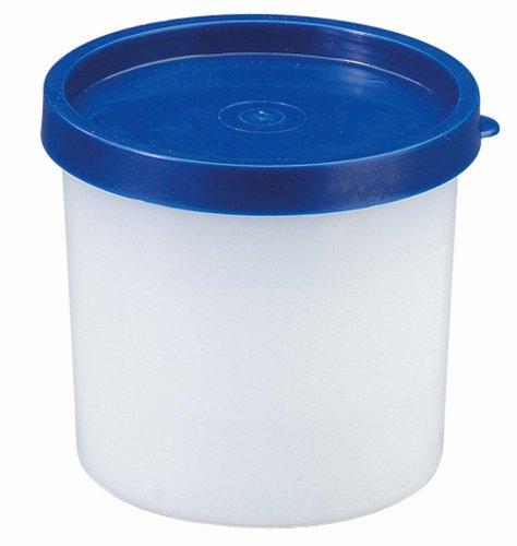 Westmark Kräuterdosen-Set, 8-teilig, Volumen je 200 ml, Kunststoff, Rund, Ø 8,3 cm, Trio, Transparent/Blau, 25842270
