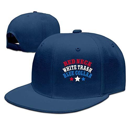 AOHOT Herren Damen Baseball Caps,Hüte, Mützen, Classic Baseball Cap, Women's & Men's Trucker Caps,Red Neck White Trash Blue Collar Adjustable Hip Hop Flat Brim Baseball Cap