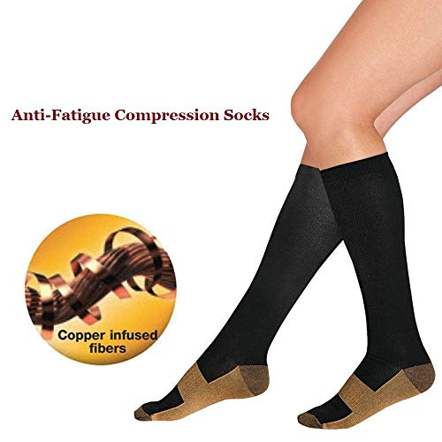 Skudgear Varicose Veins Pain Relief Compression Socks for Running, Sports, Fitness, Medical for both Men and Women (Free Size) 15-20 mmHg compression