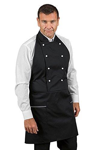 Robinson Kochjacken Schürze Küchenschürze in vielen Farben (schwarz+weiß)