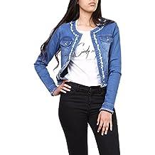 meet f7b30 37b03 Amazon.it: giacca di jeans con perle