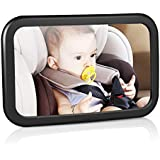 Amzdeal® Baby Mirror Easy View Mirror for Baby Carriers Auto (300x 190mm)–Black