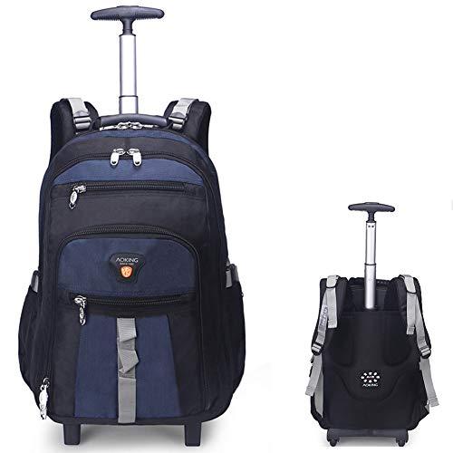 GLLSZ Wheeled Laptop Backpack di Rotolamento Scuola Impermeabile Laptop Bag Libro, Esterno Verticale Carry-On con/Zaino Si Adatta 26.2/28.9 inch Laptop Perfetto per I Viaggi,Julan,28.9inches