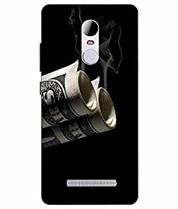 Case Cover Vintage Printed Black Hard Back Cover For RedMI Note 3