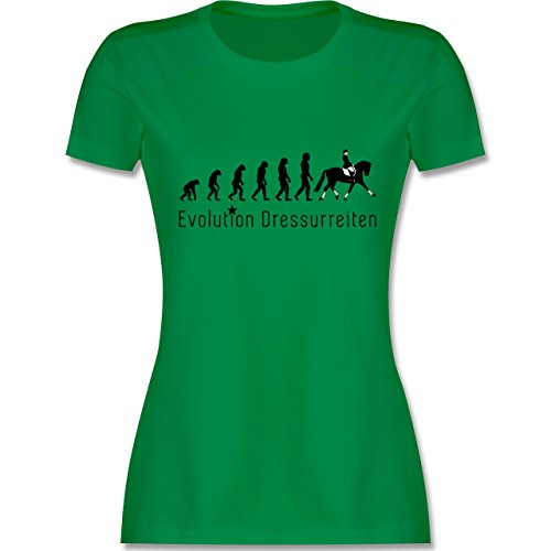 Evolution - Dressurreiten Evolution - XXL - Grün - L191 - Damen T-Shirt Rundhals