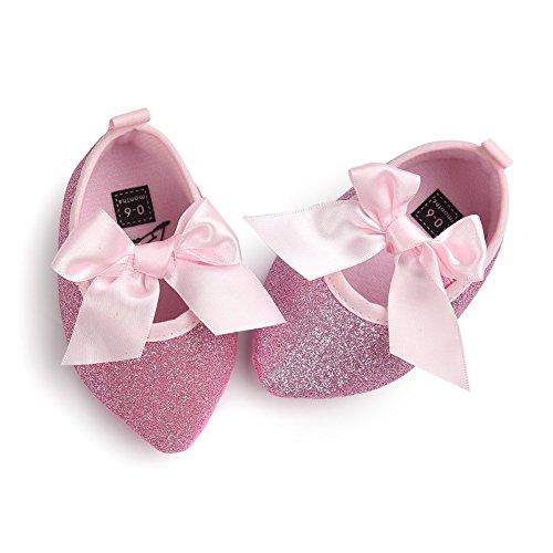 Leap Frog  Sequins Mary Jane, Baby Mädchen Lauflernschuhe, rosa - Point Toe Pink - Größe: 0-6 (Mary Rosa Jane Schuhe Glitter)