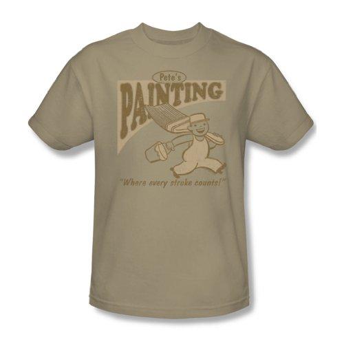 Pete'S pittura, Adulto, taglia: S/S-T-Shirt da uomo natur