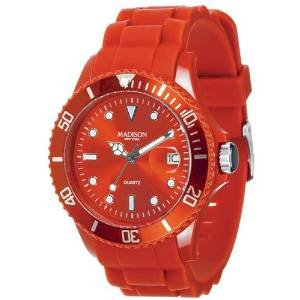 Madison New York MADISON N.Y. U4167-12 Candy Time Silicon Uhr dunkelrot