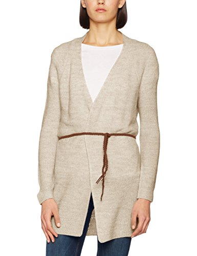 Vero Moda Vmjoya Spring Long Cardigan, Gilet Femme Ecru (Oatmeal)