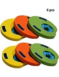 JIESD-Z Flotadores de Brazos para niños, 6 Unidades de Color al Azar,