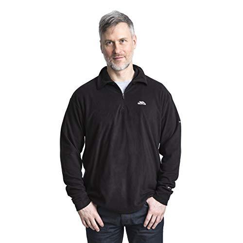 Trespass Masonville, Black, XL, Ultraleichtes Microfleece 130g/m² für Herren, X-Large, Schwarz - Polyester-microfleece Half Zip Pullover
