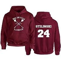 Rejoicing Beacon Hills, Felpa con cappuccio unisex, da lacrosse, per inverno, autunno e primavera, con nome Stilinski…