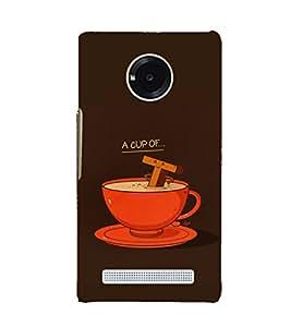 EPICCASE Funny tea cup Mobile Back Case Cover For YU Yuphoria (Designer Case)