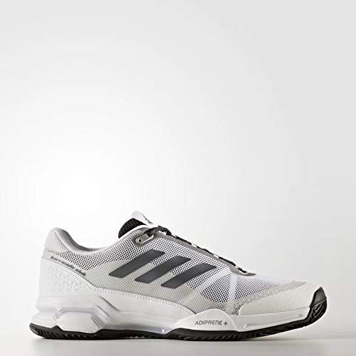 adidas Herren Barricade Club Clay Tennisschuhe, Black (Negbas/Nocmét/Ftwbla), 48 2/3 EU