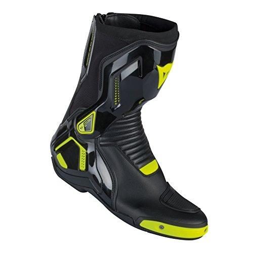 Dainese-COURSE D1 OUT Stivali da moto  , Nero/Giallo-Fluo, Taglia 47