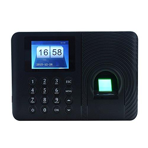 KKmoon Intelligent Biometrico di Impronte Digitali Parola d'ordine Macchina di Presenza dei Dipendenti Check-in Registratore 2.4 pollici TFT LCD DC 5V Presenza di Tempo Orologio