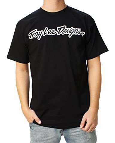 TROY LEE DESIGNS Signature T-Shirt Homme, Noir, FR : S (Taille Fabricant : S)