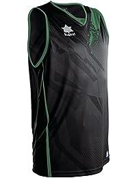 Luanvi Play Camiseta de Tirantes Deportiva de Baloncesto, Unisex Adulto, Negro, XS