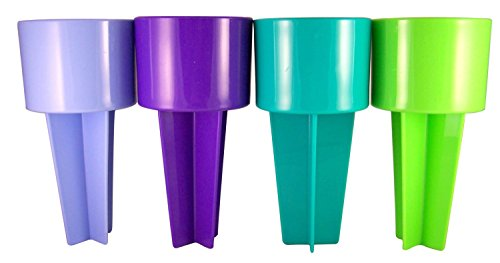 Spiker Beach Sand Cup Coaster, Blue Purple, Teal and Lime by Religious Gifts