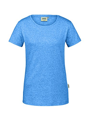 Hakro Damen-T-Shirt GOTS-Organic pastellblau meliert