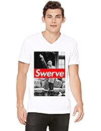 Fresh Prince 90's Will Smith Swerve Swag Mens V-neck T-shirt Small